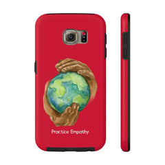 Case Mate Tough Phone Case, Nourishing Home, dark red-Phone Case-Practice Empathy