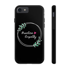Case Mate Tough Phone Case, Olive Branch Logo, black-Phone Case-Practice Empathy