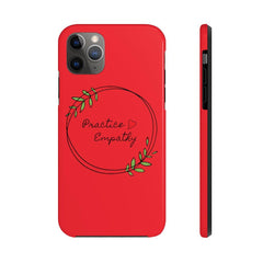 Case Mate Tough Phone Case, Olive Branch Logo, dark red-Phone Case-Practice Empathy