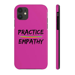 Case Mate Tough Phone Case, Rainbow Logo, magenta-Phone Case-Practice Empathy