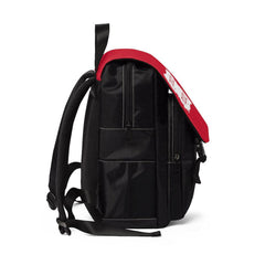 Casual Shoulder Backpack, Brushes Logo, fire red-Bags-Practice Empathy
