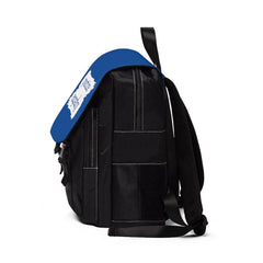 Casual Shoulder Backpack, Brushes Logo, royal blue-Bags-Practice Empathy