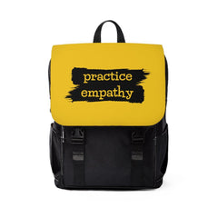 Casual Shoulder Backpack, Brushes Logo, yellow-Bags-Practice Empathy