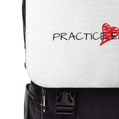 Casual Shoulder Backpack, Classic Logo, white-Bags-Practice Empathy