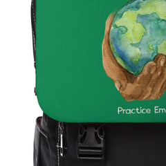 Casual Shoulder Backpack, Nourishing Home, forest green-Bags-Practice Empathy
