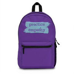 Classic Backpack, Brushes Logo, dark purple-Bags-Practice Empathy