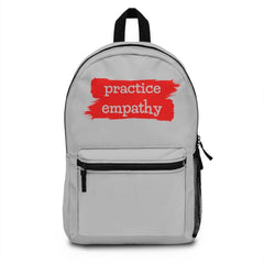 Classic Backpack, Brushes Logo, light gray-Bags-Practice Empathy