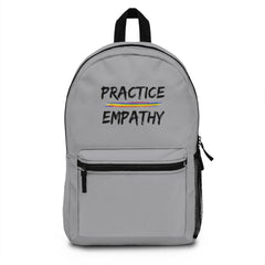 Classic Backpack, Rainbow Logo, gray-Bags-Practice Empathy