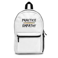 Classic Backpack, Rainbow Logo, white-Bags-Practice Empathy