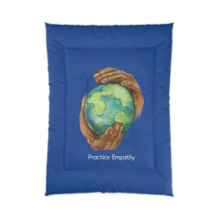 Comforter, Nourishing Home, royal blue-Home Decor-Practice Empathy
