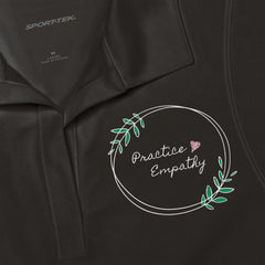 Women's Embroidered Polo Shirt, Olive Branch Logo
