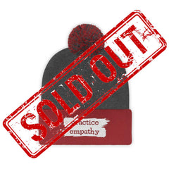 Embroidered Pom Pom Beanie, Brushes Logo-Hats-Practice Empathy