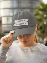 Embroidered Twill Hat, Brushes Logo-Hats-Practice Empathy