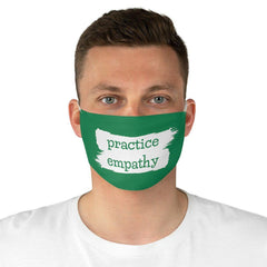 Fabric Face Mask, Brushes Logo, forest green-Accessories-Practice Empathy