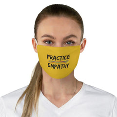 Fabric Face Mask, Rainbow Logo, yellow-Accessories-Practice Empathy