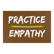 Floor Rug, Rainbow Logo, chocolate-Home Decor-Practice Empathy