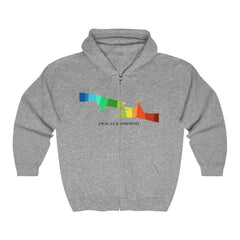 Heavy Blend™ Full Zip Hooded Sweatshirt, My Hand to Yours-Hoodie-Practice Empathy