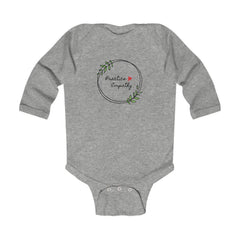 Infant Long Sleeve Bodysuit, Olive Branch Logo-Kids clothes-Practice Empathy