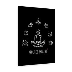Mantras of the Mind, Canvas Gallery Wrap, black-Canvas-Practice Empathy