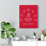 Mantras of the Mind, Canvas Gallery Wrap, deep red-Canvas-Practice Empathy