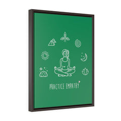 Mantras of the Mind, Premium Framed Canvas, forest green-Canvas-Practice Empathy