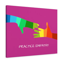 My Hand to Yours, Canvas Gallery Wrap, magenta-Canvas-Practice Empathy