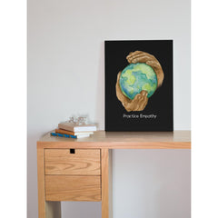 Nourishing Home, Canvas Gallery Wrap, black-Canvas-Practice Empathy