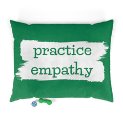 Pet Bed, Brushes Logo, forest green-Pets-Practice Empathy