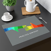 Placemat, My Hand to Yours, gull gray-Home Decor-Practice Empathy