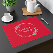 Placemat, Olive Branch Logo, fire engine red-Home Decor-Practice Empathy