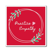 Refrigerator Magnet, Olive Branch Logo, dark red-Paper products-Practice Empathy