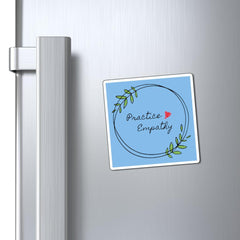 Refrigerator Magnet, Olive Branch Logo, light blue-Paper products-Practice Empathy