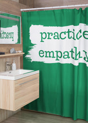 Shower Curtain, Brushes Logo-Home Decor-Practice Empathy