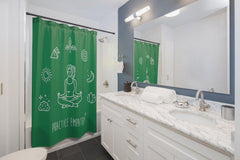 Shower Curtain, Mantras of the Mind, female, forest green-Home Decor-Practice Empathy