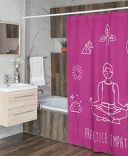 Shower Curtain, Mantras of the Mind-Home Decor-Practice Empathy