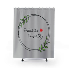 Shower Curtain, Olive Branch Logo-Home Decor-Practice Empathy