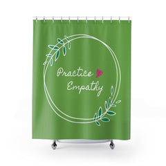 Shower Curtain, Olive Branch Logo, apple-Home Decor-Practice Empathy