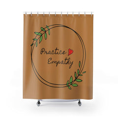 Shower Curtain, Olive Branch Logo, tussock-Home Decor-Practice Empathy