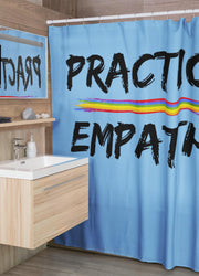 Shower Curtain, Rainbow Logo-Home Decor-Practice Empathy