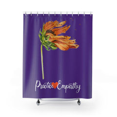 Shower Curtain, Word to the Wind, dark purple-Home Decor-Practice Empathy