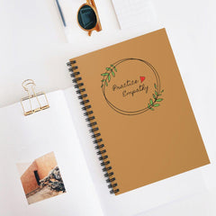 Spiral Notebook, Olive Branch Logo-Paper products-Practice Empathy