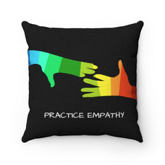 Spun Polyester Square Pillow, My Hand to Yours-Home Decor-Practice Empathy