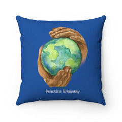 Spun Polyester Square Pillow, Nourishing Home-Home Decor-Practice Empathy