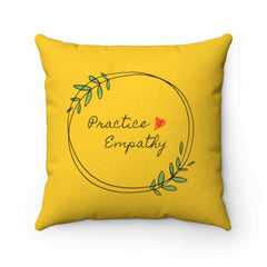 Spun Polyester Square Pillow, Olive Branch Logo-Home Decor-Practice Empathy