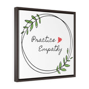 Square Framed Premium Gallery Wrap Canvas, Olive Branch Logo-Canvas-Practice Empathy