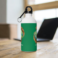 Stainless Steel Water Bottle, Nourishing Home, forest green-Mug-Practice Empathy