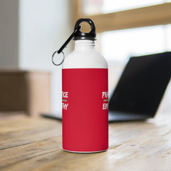 Stainless Steel Water Bottle, Rainbow Logo, dark red-Mug-Practice Empathy