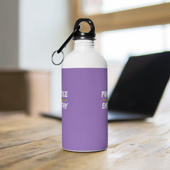 Stainless Steel Water Bottle, Rainbow Logo, light purple-Mug-Practice Empathy