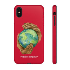 Tough Phone Case, Nourishing Home, Deep Red-Phone Case-Practice Empathy