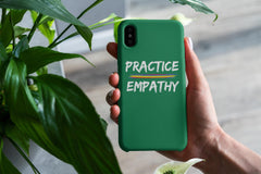 Tough Phone Case, Rainbow Logo, Forest Green-Phone Case-Practice Empathy
